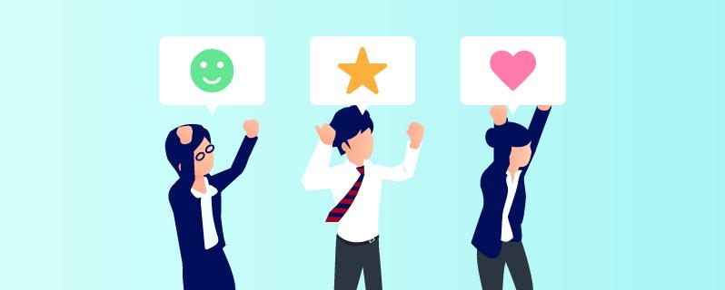 顧客満足の向上、売上増イメージ