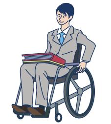 車椅子の雇用者イメージ