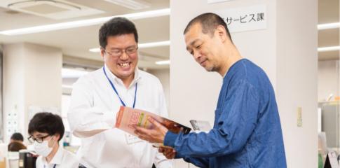 原木代表と曽根相談員の相談風景02